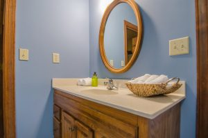 oval shape Mirror in a room